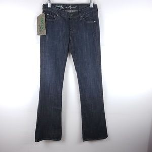 NWT 7FAM Organic Bootcut Dark Wash Jeans Size 26